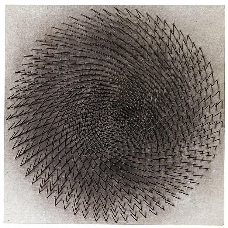 Gunther Ueker (b. 1930) Nagelbil, 1969