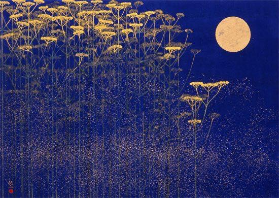 Hiramatsu Reiji , peintre japonais-nihonga- né en 1941 à Tokyo